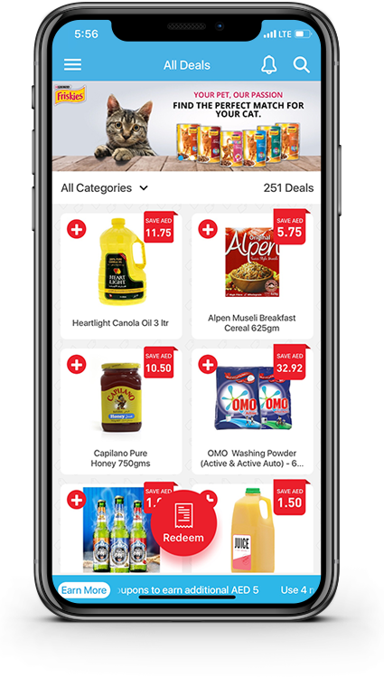 Get amazing deals on grocery and daily use products